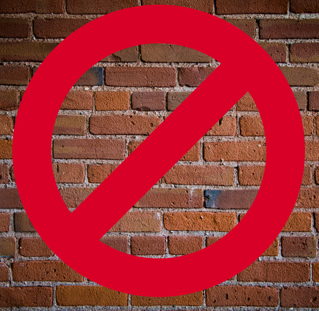 Say no to a brick wall