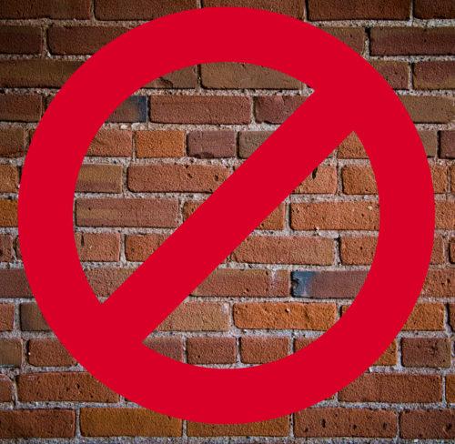 Say no to a brick wall